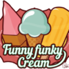 Funny funky Cream Log